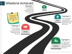 Milestone Achieved Template 1 Ppt PowerPoint Presentation Gallery File Formats