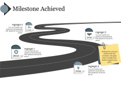 Milestone Achieved Template Ppt PowerPoint Presentation Styles Influencers
