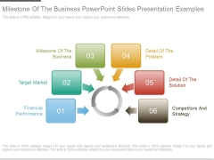 Milestone Of The Business Powerpoint Slides Presentation Examples