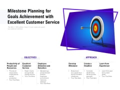 Milestone Planning For Goals Achievement With Excellent Customer Service Ppt PowerPoint Presentation Styles Good PDF