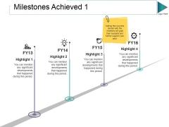 Milestones Achieved 1 Ppt PowerPoint Presentation Infographics Tips