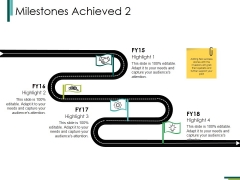 Milestones Achieved 2 Ppt PowerPoint Presentation Model Graphics Download
