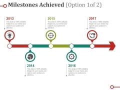 Milestones Achieved Ppt PowerPoint Presentation Icon Sample