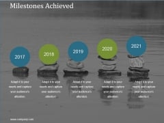 Milestones Achieved Ppt PowerPoint Presentation Infographics