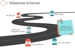 Milestones Achieved Ppt PowerPoint Presentation Pictures