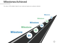 Milestones Achieved Roadmap Ppt PowerPoint Presentation File Background Image