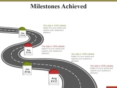 Milestones Achieved Template 1 Ppt PowerPoint Presentation Icon Smartart