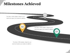 Milestones Achieved Template 1 Ppt PowerPoint Presentation Infographic Template Design Inspiration