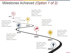 Milestones Achieved Template 1 Ppt PowerPoint Presentation Model Good