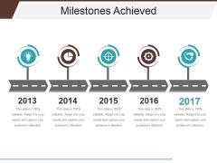 Milestones Achieved Template 1 Ppt PowerPoint Presentation Summary Skills