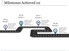 Milestones Achieved Template 2 Ppt PowerPoint Presentation File Ideas
