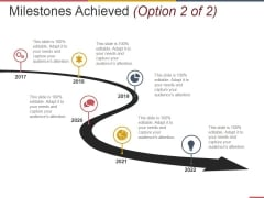 Milestones Achieved Template 2 Ppt PowerPoint Presentation Portfolio Backgrounds