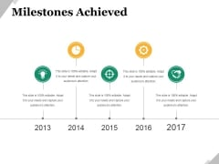 Milestones Achieved Template 2 Ppt PowerPoint Presentation Show Icon