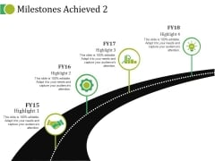 Milestones Achieved Template Ppt PowerPoint Presentation Pictures Slide Portrait