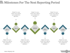 Milestones For The Next Reporting Period Template 1 Ppt PowerPoint Presentation Model