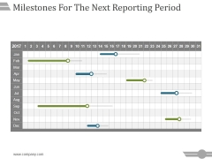 Milestones For The Next Reporting Period Template 2 Ppt PowerPoint Presentation Files