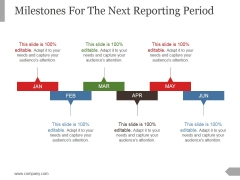 Milestones For The Next Reporting Period Template 2 Ppt PowerPoint Presentation Ideas