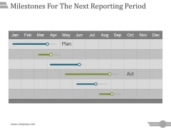 Milestones For The Next Reporting Period Template 3 Ppt PowerPoint Presentation Guide