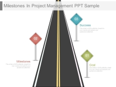 Milestones In Project Management Ppt Sample
