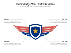 Military Badge Medal Vector Illustration Ppt PowerPoint Presentation Gallery Objects PDF
