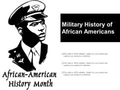 Military History Of African Americans Ppt PowerPoint Presentation Portfolio Styles