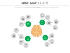 Mind Map Chart To Set Strategy Powerpoint Slides