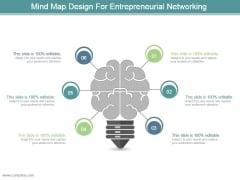 Mind Map Design For Entrepreneurial Networking Ppt Design