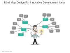 Mind Map Design For Innovative Development Ideas Ppt Slides