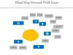 Mind Map Diagram With Icons Powerpoint Slides