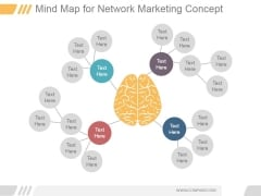 Mind Map For Network Marketing Concept Ppt PowerPoint Presentation Slide Download