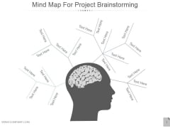Mind Map For Project Brainstorming Ppt PowerPoint Presentation Images
