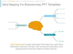 Mind Mapping For Brainstorming Ppt Templates