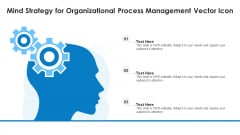 Mind Strategy For Organizational Process Management Vector Icon Ppt PowerPoint Presentation Styles Background Image PDF