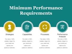 Minimum Performance Requirements Ppt PowerPoint Presentation Deck