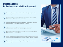 Miscellaneous In Business Acquisition Proposal Ppt PowerPoint Presentation Layouts Microsoft