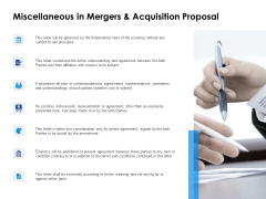 Miscellaneous In Mergers And Acquisition Proposal Ppt PowerPoint Presentation Portfolio Graphics Example