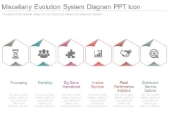 Miscellany Evolution System Diagram Ppt Icon