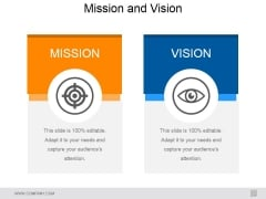 Mission And Vision Ppt PowerPoint Presentation Show Infographics