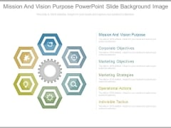 Mission And Vision Purpose Powerpoint Slide Background Image