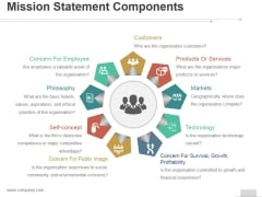 Mission Statement Components Ppt PowerPoint Presentation Designs