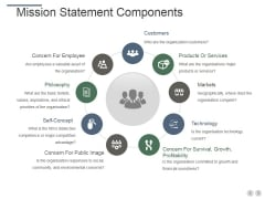 Mission Statement Components Ppt PowerPoint Presentation Inspiration Slides