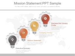 Mission Statement Ppt Sample