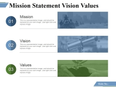 Mission Statement Vision Values Ppt PowerPoint Presentation Styles Examples