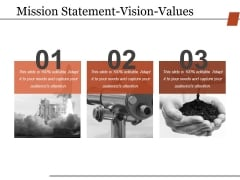 Mission Statement Vision Values Ppt PowerPoint Presentation Summary Tips