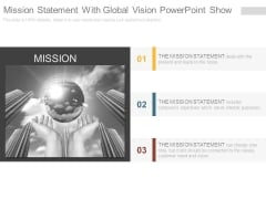 Mission Statement With Global Vision Powerpoint Show
