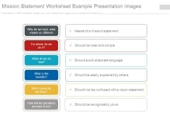 Mission Statement Worksheet Example Presentation Images