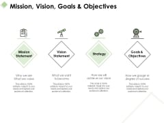 Mission Vision Goals And Objectives Ppt PowerPoint Presentation Professional Topics