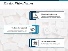 Mission Vision Values Ppt PowerPoint Presentation Icon Influencers