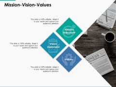 Mission Vision Values Ppt Powerpoint Presentation Infographics Graphics