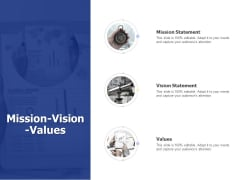Mission Vision Values Ppt PowerPoint Presentation Portfolio Aids